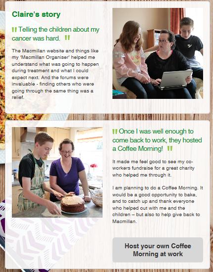 Macmillan Coffee Morning Campaign